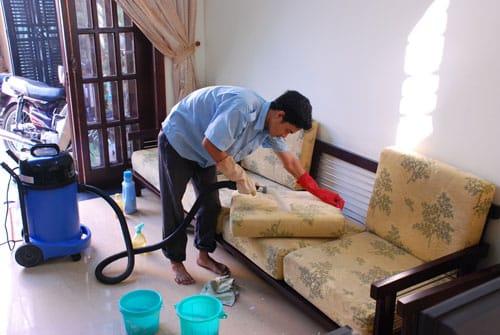 Quy trình giặt ghế tại nhà