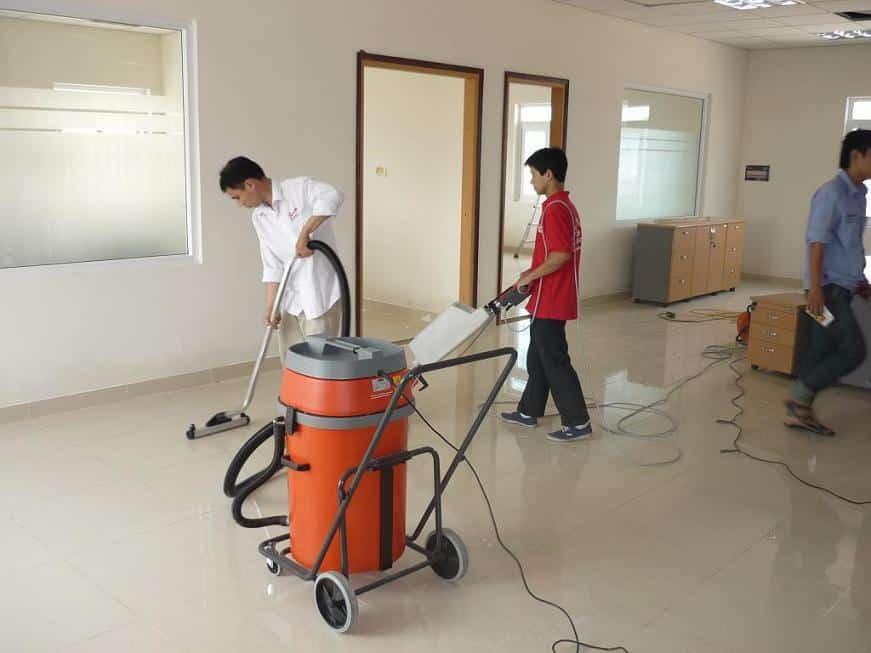 Quy trình vệ sinh công trình xây dựng