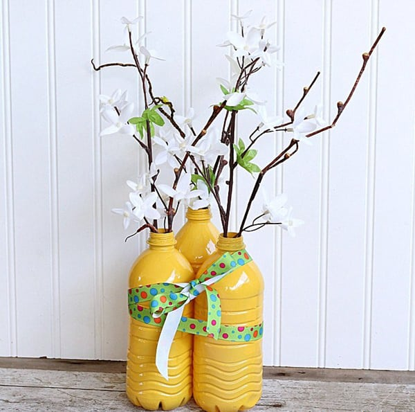 Ý nghĩa của chậu hoa làm từ chai nhựa