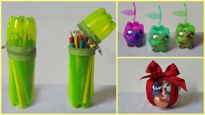 Hộp bút làm từ chai nhựa