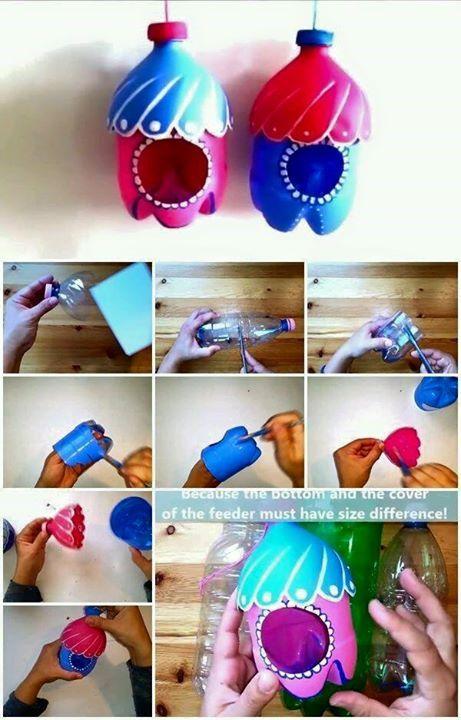 Tái chế chai nhựa để làm đồ trang trí