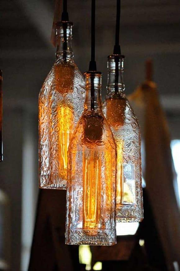 Tái chế chai nhựa thành đèn trang trí nhà