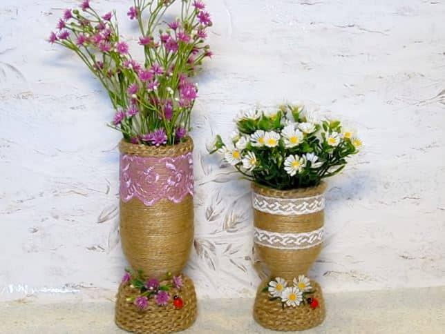 Tái chế chai nhựa thành lọ hoa