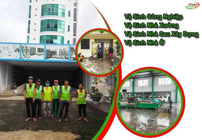Dịch vụ lau kính tòa nhà tại TPHCM