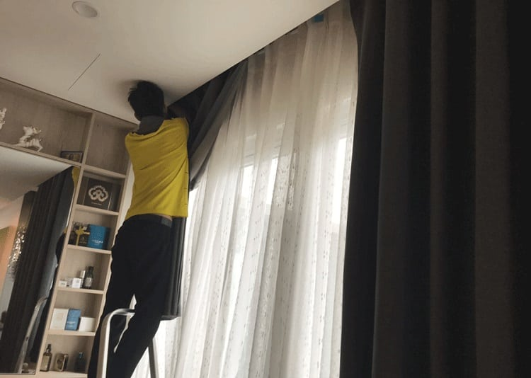 Dịch vụ giặt rèm cửa ở Củ Chi