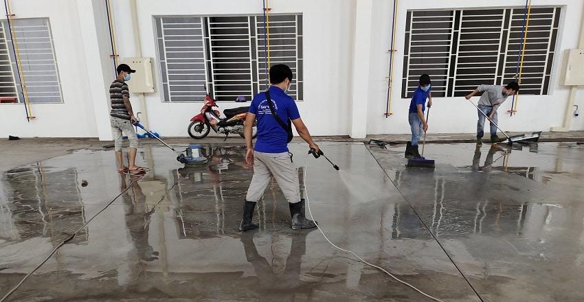 Dịch vụ vệ sinh nhà xưởng Tân Phú